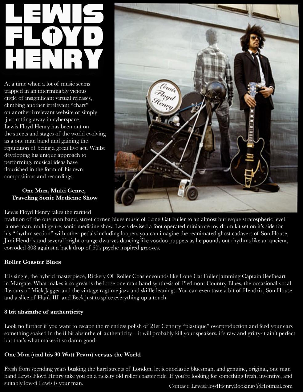 Lewis Floyd Henry bio final